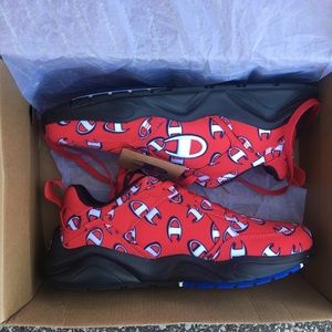 New Champion Big C Shoes Red Black size 6Y